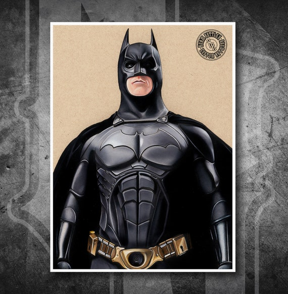 Batman Begins - Fine Art Print - Hand Drawing