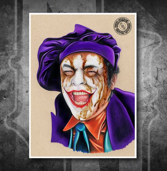 Joker - 1989 Batman - Fine Art Print - Hand Drawing