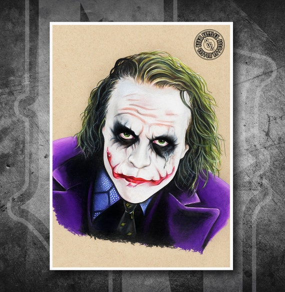Joker - The Dark Knight - Fine Art Print - Hand Drawing