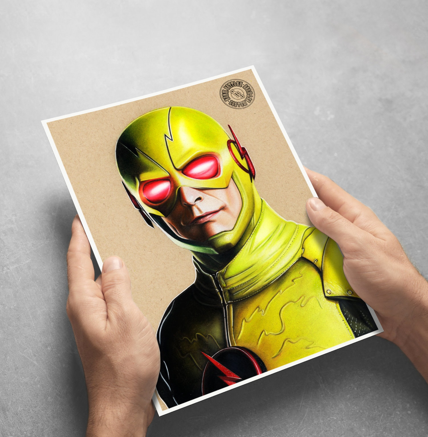Reverse Flash - Fine Art Print - Hand Drawing