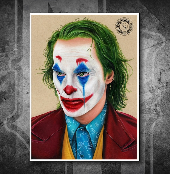 Joaquin Phoenix Joker - Fine Art Print - Hand Drawing