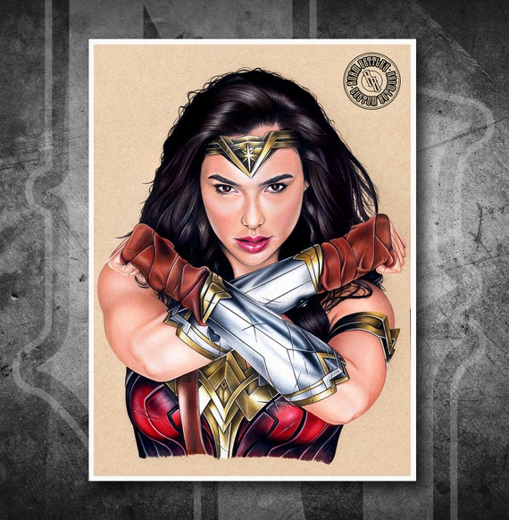 Wonder Woman - Fine Art Print - Hand Drawing