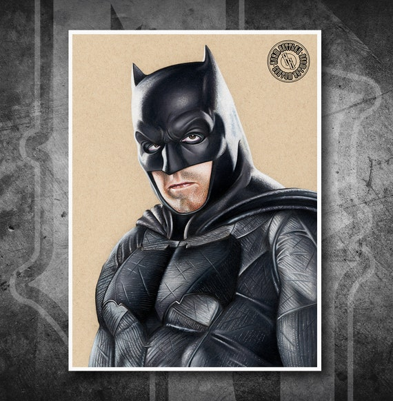 Batman - Justice League - Fine Art Print - Hand Drawing
