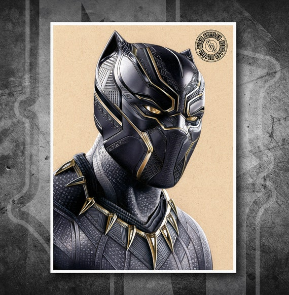 Black Panther - Fine Art Print - Hand Drawing