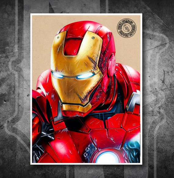 Iron-Man - Fine Art Print - Hand Drawing