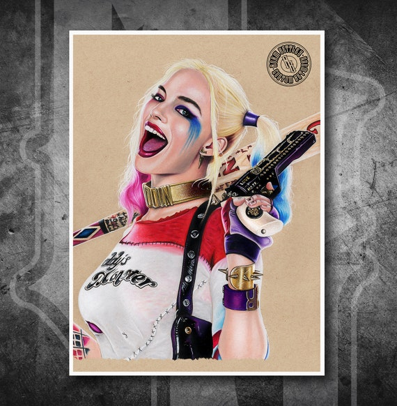 Harley Quinn Suicide Squad - Fine Art Print - Hand Drawing