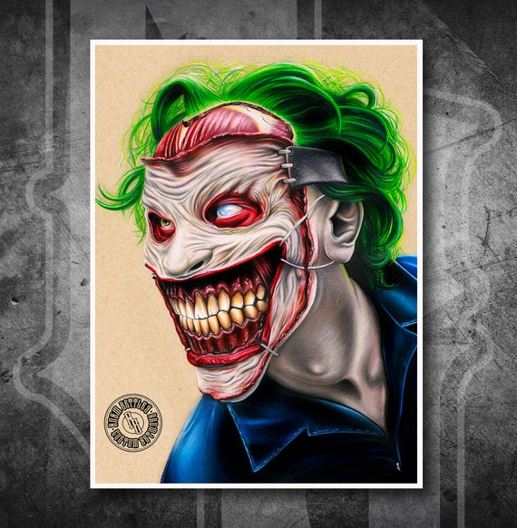 New 52 Joker - Fine Art Print - Hand Drawing