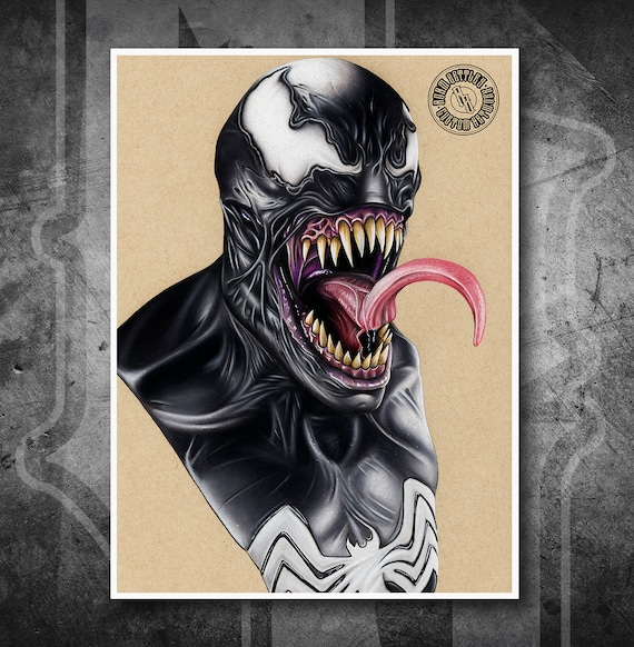 Venom - Fine Art Print - Hand Drawing