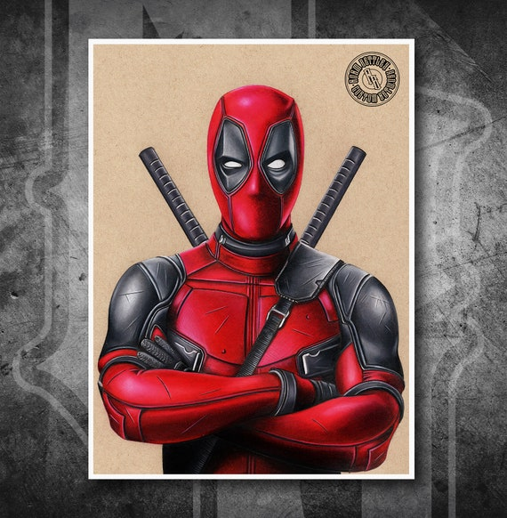 Deadpool Movie - Fine Art Print - Hand Drawing