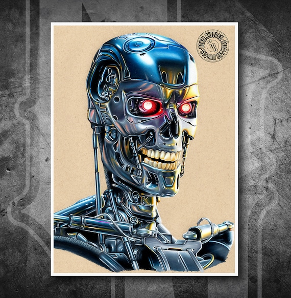 Terminator - Fine Art Print - Hand Drawing