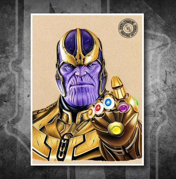 Thanos - Fine Art Print - Hand Drawing