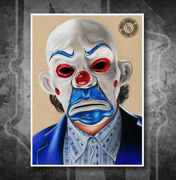 Bank Robber Joker - Fine Art Print - Hand Drawing