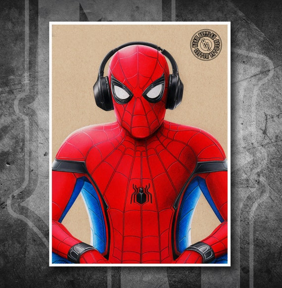 Spider-Man Homecoming - Fine Art Print - Hand Drawing