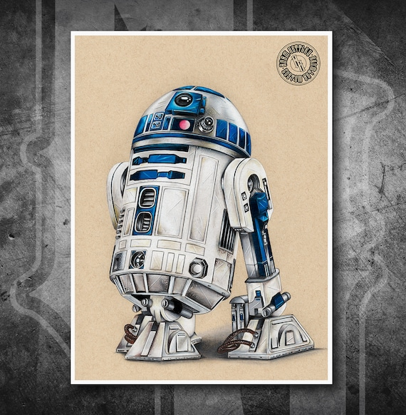 R2-D2 - Fine Art Print - Hand Drawing