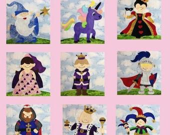 Fairy Tale PDF quilt block pattern set
