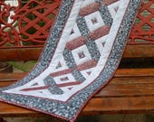 Easy festive pieced table runner PDF pattern