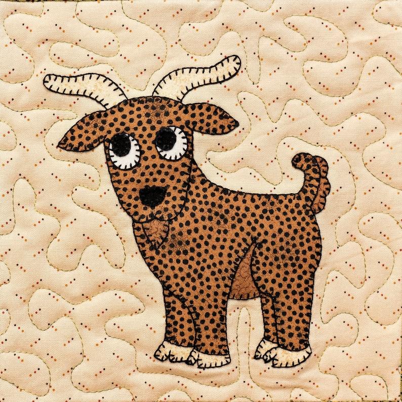 fe4f4239a3de57 Goat PDF applique quilt block pattern
