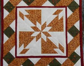 Hunter's star PDF miniature quilt pattern