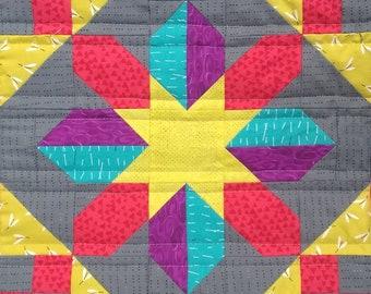Corona Star PDF pieced quilt block pattern