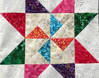 Martha Washington PDF pieced quilt block pattern