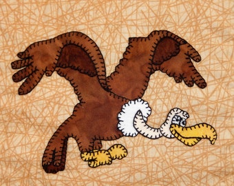 Vulture or condor PDF applique pattern; African or safari animal quilt pattern; bird quilt; whimsical baby or child's quilt