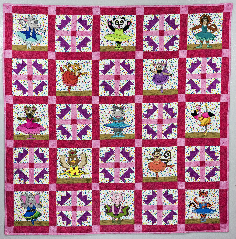 Ballerina animal applique PDF baby girl quilt pattern | Etsy