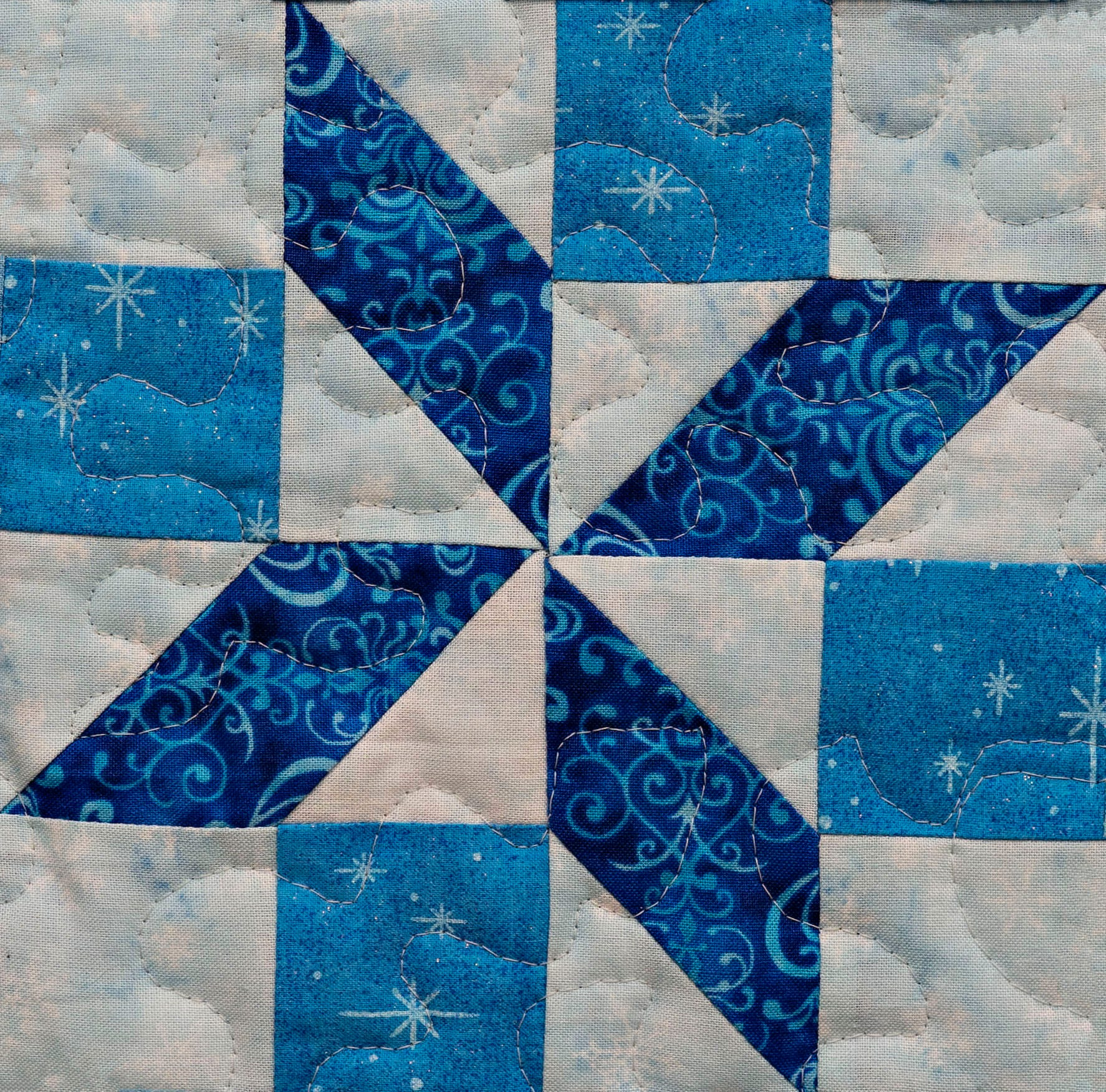 Pieced Snowflake Pdf Easy Quilt Block Pattern Etsy