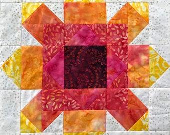 Firewheel PDF pieced quilt block pattern