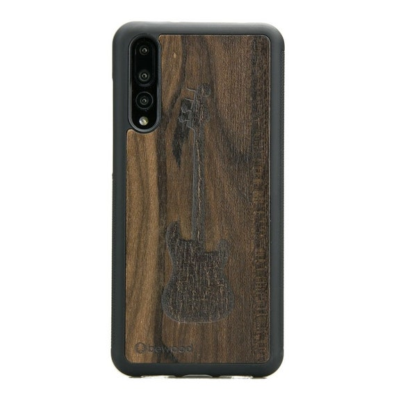 hot sale online 3bcdc 836d8 Wood Case For Huawei P20 / P20 PRO / P20 Lite - GUITAR - Ziricote wood -  Real natural wooden case