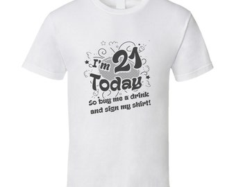 Twenty First Birthday T Shirt Tshirt For Him Or Her Tee As A 21st Gift Idea Great