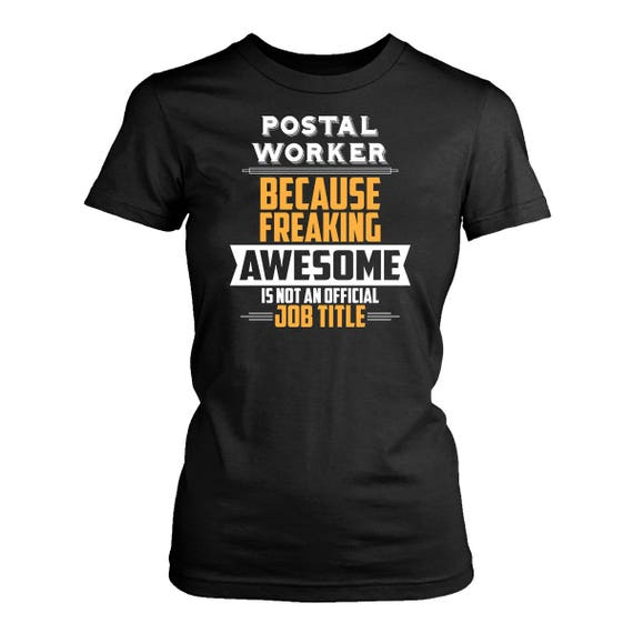 Postal Worker Womens Fit T Shirt Funny Postal Worker Shirt Etsy