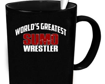 Sumo Wrestler coffee mug. Tea or coffee cute and funny gift idea 11 oz ceramic mugs