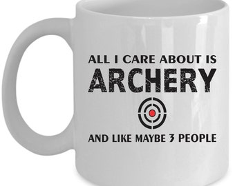 Archery Coffee Mug Perfect Gift for Your Dad, Mom, Boyfriend, Girlfriend, or Friend - Proudly Made in the USA!