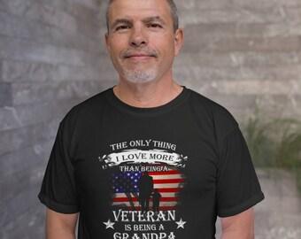Veteran grandpa t shirt. Grandpa gift idea t-shirt