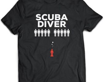 Scuba Diver Gift, Scuba diver t shirt, Mens Tshirt, Black Tee, Scuba Tshirt