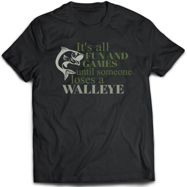 Walleye T Shirt Walleye Gift Fishing Shirt Fathers Day Etsy