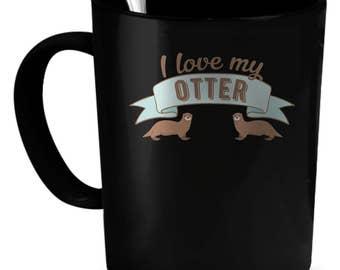 Otter Coffee Mug 11 oz. Cute Otter gift