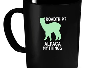 Alpacas Coffee Mug 11 oz. Perfect Gift for Your Dad, Mom, Boyfriend, Girlfriend, or Friend - Proudly Made in the USA! Alpacas gift