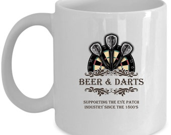 Darts Coffee Mug Perfect Gift for Your Dad, Mom, Boyfriend, Girlfriend, or Friend - Proudly Made in the USA!
