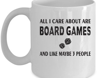 Board Games Coffee Mug Perfect Gift for Your Dad, Mom, Boyfriend, Girlfriend, or Friend - Proudly Made in the USA!