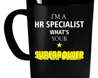 HR Specialist Coffee Mug 11 oz. Perfect Gift for Your Dad, Mom, Boyfriend, Girlfriend, or Friend - Proudly Made in the USA!