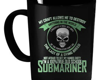 Submariner Coffee Mug 11 oz. Perfect Gift for Your Dad, Mom, Boyfriend, Girlfriend, or Friend - Proudly Made in the USA! Submariner gift