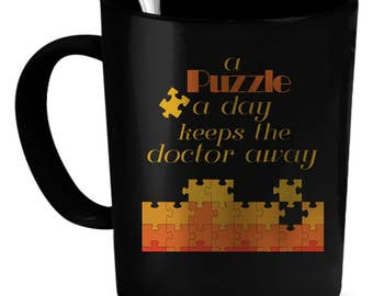 Puzzles Coffee Mug 11 oz. Perfect Gift for Your Dad, Mom, Boyfriend, Girlfriend, or Friend - Proudly Made in the USA!