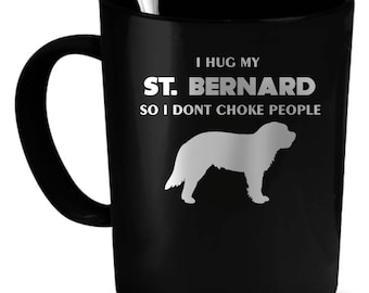 St. Bernard Coffee Mug 11 oz. Perfect Gift for Your Dad, Mom, Boyfriend, Girlfriend, or Friend - Proudly Made in the USA! St. Bernard gift