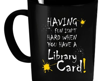 Library Coffee Mug 11 oz. Perfect Gift for Your Dad, Mom, Boyfriend, Girlfriend, or Friend - Proudly Made in the USA! Library gift