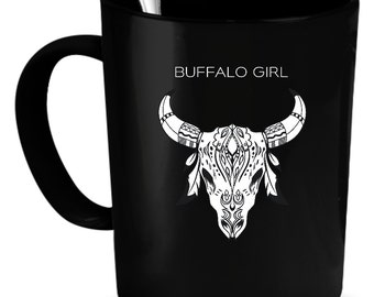 Buffaloes Coffee Mug 11 oz. Perfect Gift for Your Dad, Mom, Boyfriend, Girlfriend, or Friend - Proudly Made in the USA! Buffaloes gift