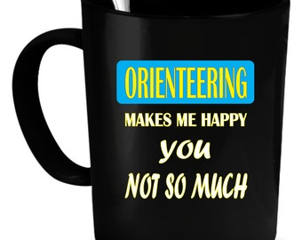 Orienteering Coffee Mug 11 oz. Perfect Gift for Your Dad, Mom, Boyfriend, Girlfriend, or Friend - Proudly Made in the USA! Orienteering gift