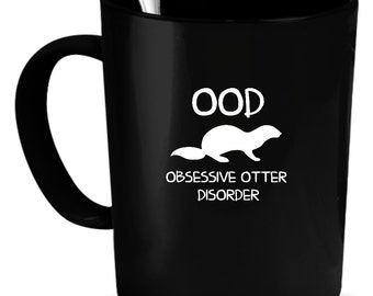 Otters Coffee Mug 11 oz. Perfect Gift for Your Dad, Mom, Boyfriend, Girlfriend, or Friend - Proudly Made in the USA! Otters gift