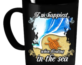 Turtles Coffee Mug 11 oz. Perfect Gift for Your Dad, Mom, Boyfriend, Girlfriend, or Friend - Proudly Made in the USA!