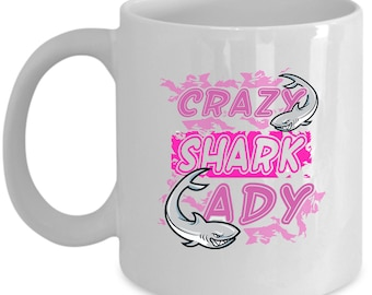 Sharks Coffee Mug Perfect Gift for Your Dad, Mom, Boyfriend, Girlfriend, or Friend - Proudly Made in the USA!